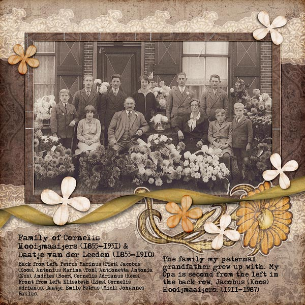 My Heritage Digital Scrapbook Layout