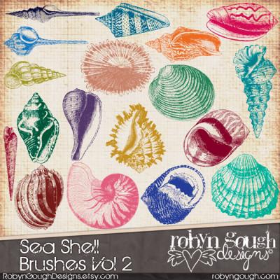 Sea Shell Photoshop Brushes