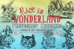 Alice In Wonderland Clipart, Vectors & Photoshop Brushes