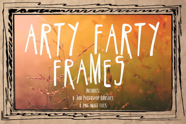 Arty Farty Frames and Photoshop Brushes