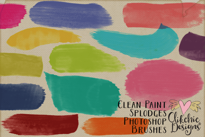Clean Paint Splodge Watercolor Photoshop Brushes