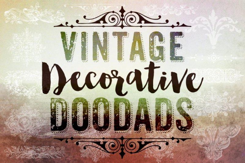 Vintage Decorative Doodads Photoshop Brushes