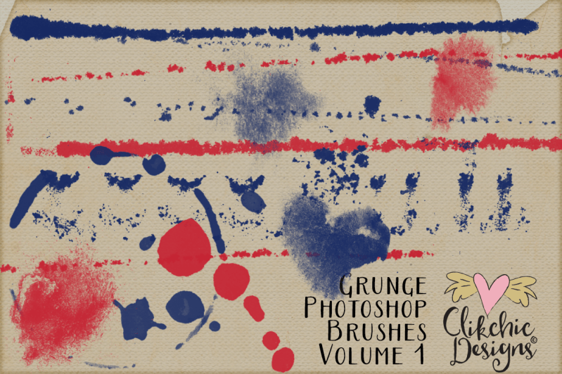 Grunge Photoshop Brushes Volume 1