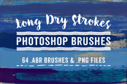 Long Dry Paint Stroke Photoshop Brushes