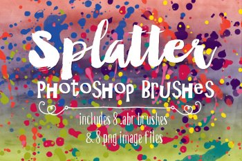 Watercolor Paint Splatter Photoshop Brushes