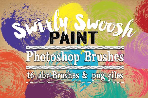 Swirly Swoosh Paint Photoshop Brushes