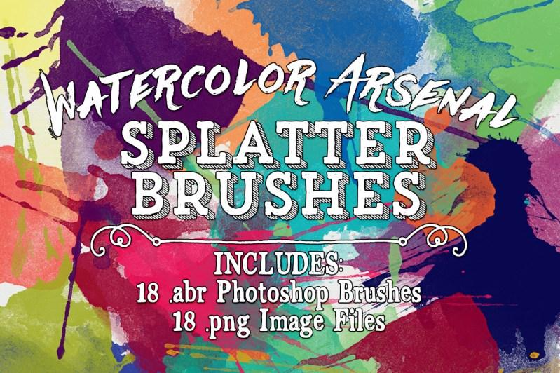 Watercolor Arsenal Splatter Brushes