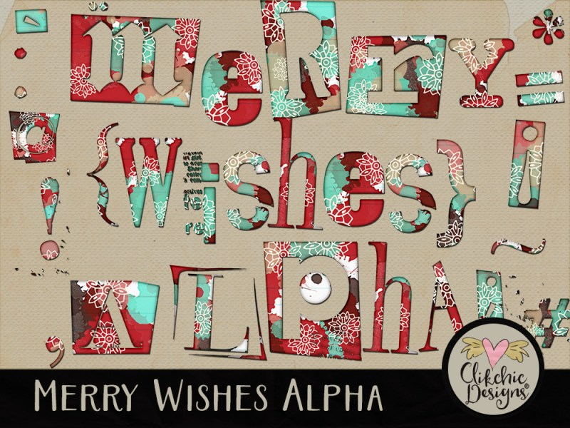 Merry Wishes Alpha by Clikchic Designs