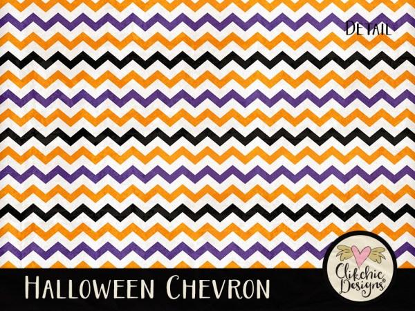 Halloween Chevron Digital Paper Pack