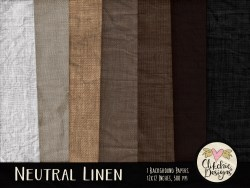 Neutral Linen Digital Scrapbook Paper Pack