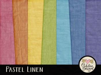 Pastel Linen Digital Scrapbook Paper Pack