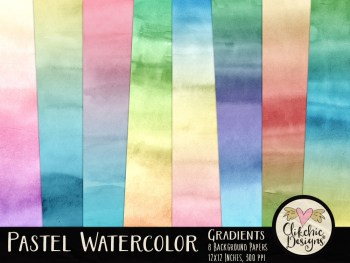 Pastel Watercolor Gradient Texture Backgrounds