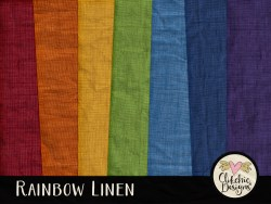 Rainbow Linen Digital Scrapbook Paper Pack