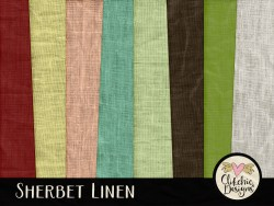 Sherbet Linens Digital Scrapbook Paper Pack