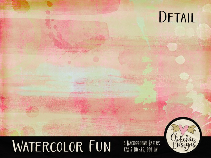 Watercolor Fun Digital Paper Pack