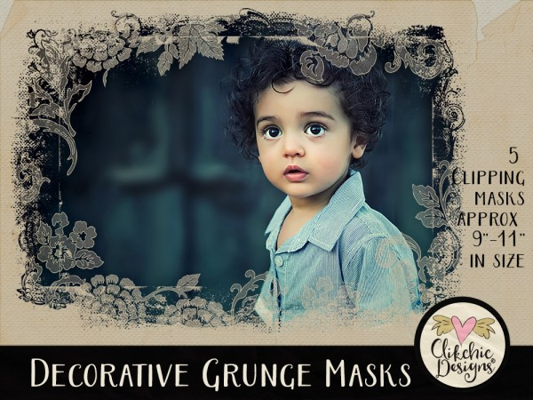 Decorative Grunge Photoshop Clipping Masks
