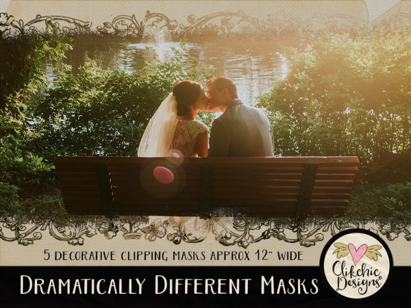 Dramatically Different Photoshop Clipping Masks