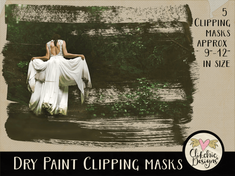 Dry Paint Photoshop Clipping Masks