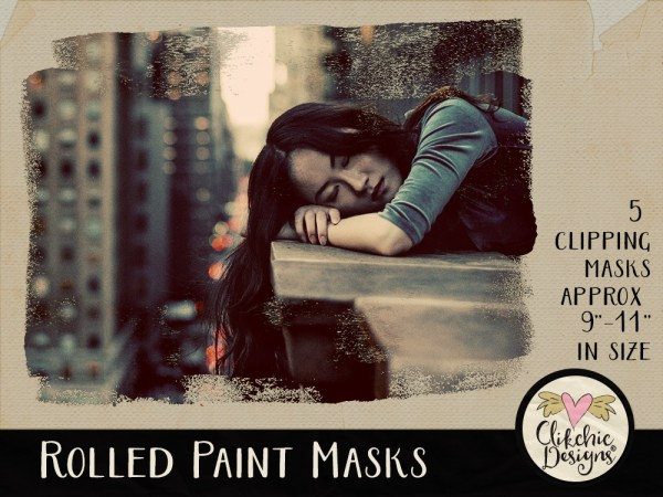 Rolled Paint Photoshop Clipping Masks