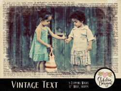 Vintage Text Photoshop Clipping Masks
