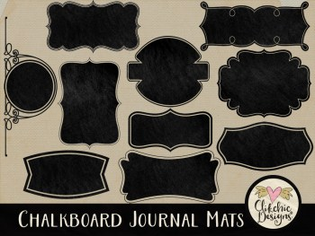 Chalk Board Journal Mat Digital Scrapbook Elements