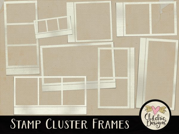 Stamp Cluster Digital Scrapbook Frames