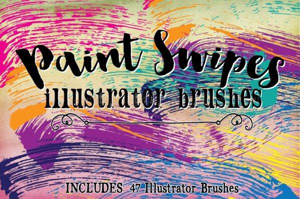 Paint Swipe Ilustrator Brushes