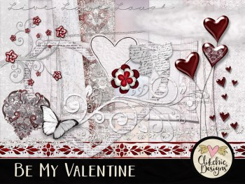 Be My Valentine Digital Scrapbook Kit