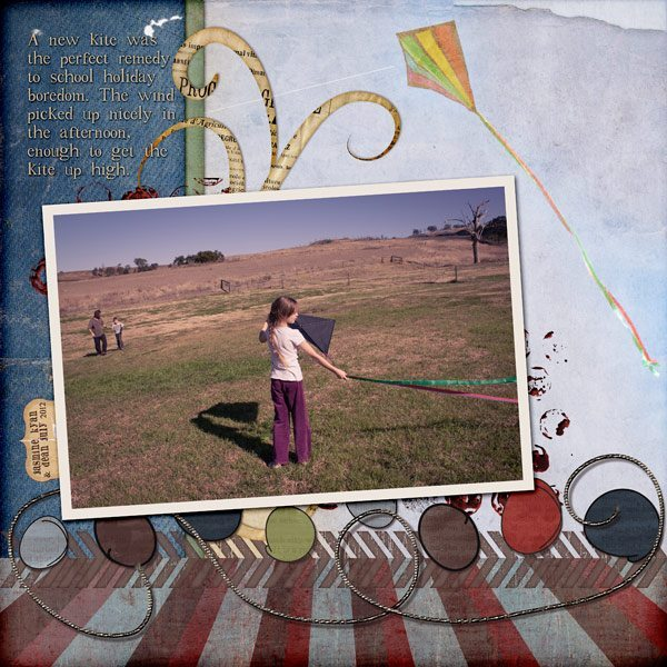 Childhood Adventures Digital Scrapbook Layout