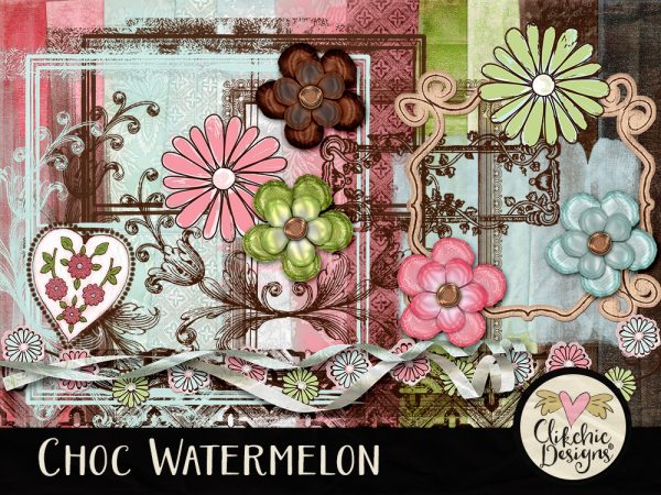 Choc Watermelon Digital Scrapbook Kit
