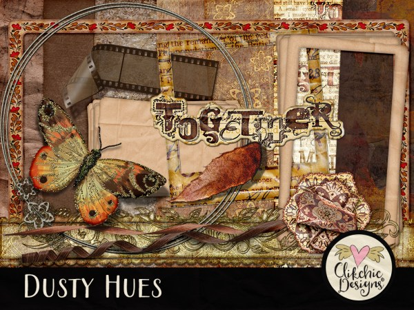 Dusty Hues Digital Scrapbook Kit