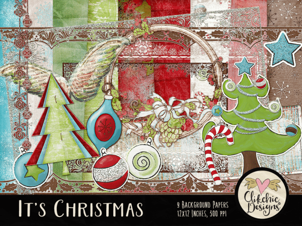It's Christmas Digital Scrapbook Kit