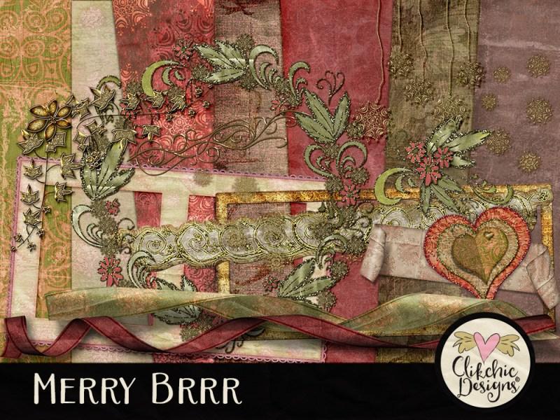 Merry Brrr Christmas Digital Scrapbook Kit