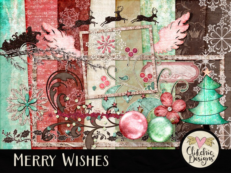Merry Wishes Digital Scrapbook Kit