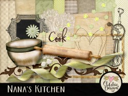 Nana's Kitchen Digital Scrapbook Kit