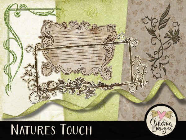 Natures Touch Digital Scrapbook Kit Newsletter Freebie