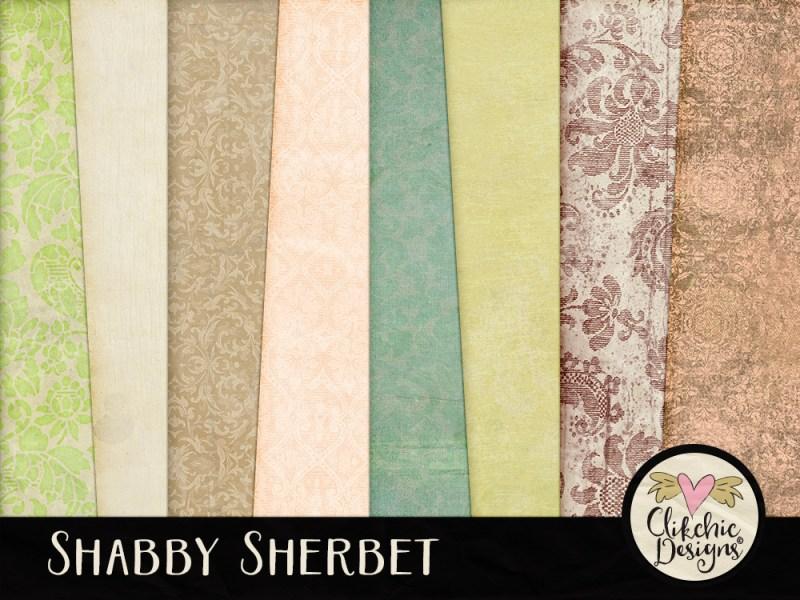 Shabby Sherbet Digital Scrapbook Kit