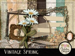 Vintage Spring Digital Scrapbook Kit