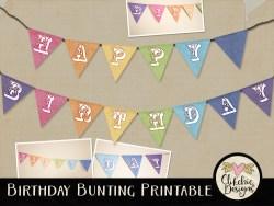 Rainbow Birthday Bunting Printable