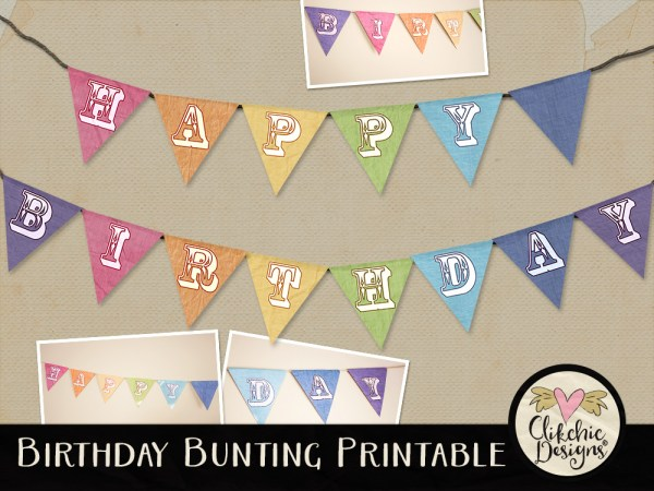 Printable Happy Birthday Bunting