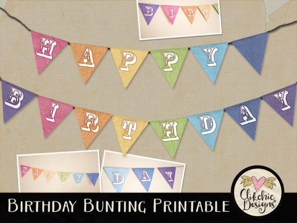 Printable Happy Birthday Bunting