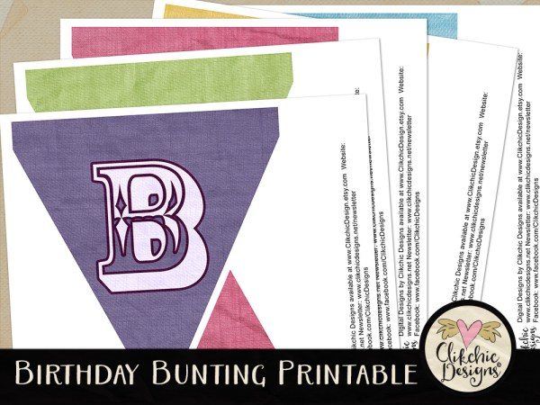 Happy Birthday Bunting Printable