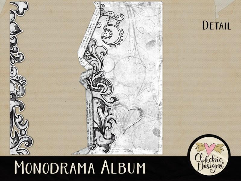 Monodrama Digital Scrapbook Quick Page Album