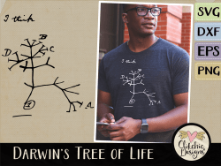 Darwins Tree of Life Vector and SVG Cutting Files