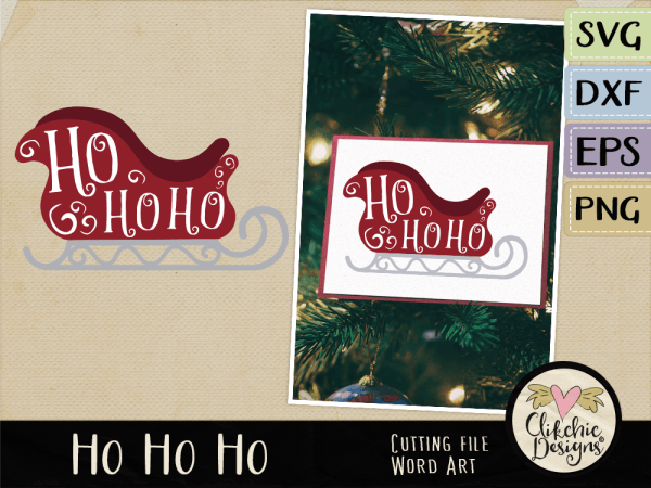 Ho Ho Ho Vector Word Art & SVG Cutting File