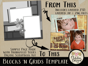 Blocks N Grids Layered Photoshop Template