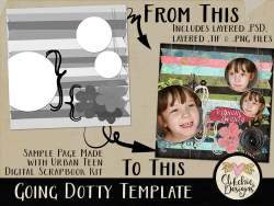 Going Dotty Layered Photoshop Template