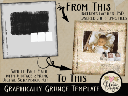 Graphically Grunge Layered Template