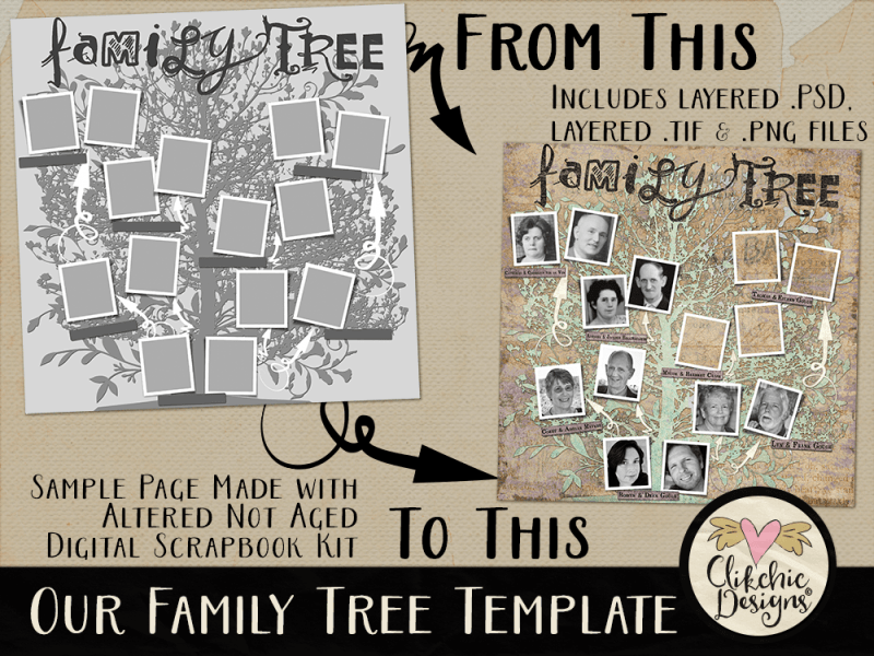 Our Family Tree Layered Photoshop Template