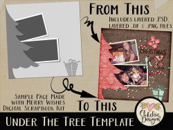 Under the Tree Layered Photoshop Template